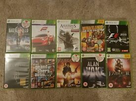 Assortment of xbox 360 games see ad for individual game pricing