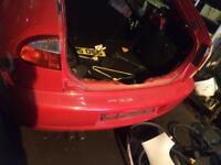 Seat Leon 2004 bumper rear in red