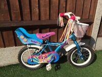 Girls Pom Pom 14 inch wheel bike