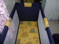 Travel Cot and spring interior mattress