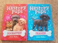 Mystery pups books x 2