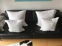 4 White Sofa Cushions