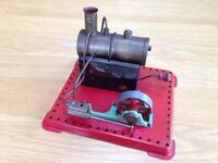 Vintage Mamod stationary Steam engine