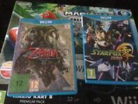 Nintendo Wii U Mariokart 8 with games