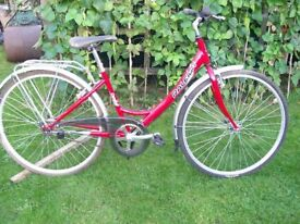 Ladies Raleigh Caprice Bike, Original Raleigh tyres, may need service/ TLC as from a house clearence