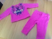 Baby girl size 12 month kenzo tracksuit
