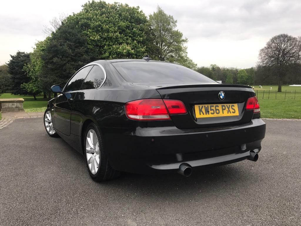 2007 56 bmw 335d se coupe e92 3 0 twin turbo diesel black. Black Bedroom Furniture Sets. Home Design Ideas