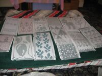 A variety 60 different 24 stitch punch cards for machine knitting - £18