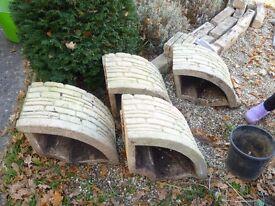 4 Piece Circle Stone Planter.