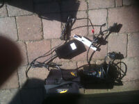 Powakaddy charger and battery.