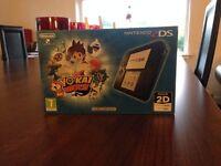 As new. Nintendo 2DS Blue Console with Yo-Kai Watch Bundle