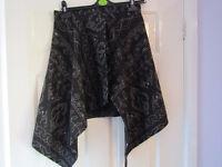 Drop Dead patterned overskirt / kilt One Size Never Worn