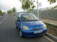 Toyota Yaris 5dr (blue) 2002