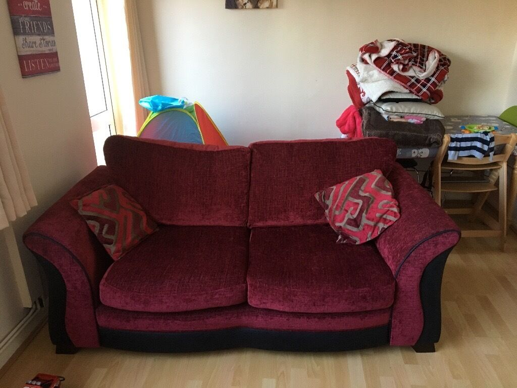 Sofa and sofa bedin HampshireGumtree - Sofa and sofa bed Sofa bed is the one with the three scatter cushions. One side on the sofa has slightly collapsed but doesnt affect. Covers come off and wash in machine well. Cost over £2000 new