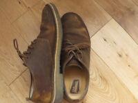 Clarks Men´s Shoes Size 8 - EU 42 LEATHER brown