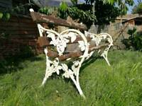 Antique Wrought iron falkirk bench