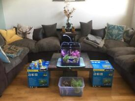 Aqua nano fish tanks and accessories