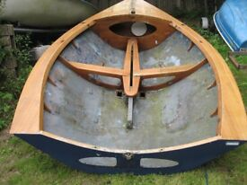 Sailing dinghy stripped hull for restoration or kids garden play feature