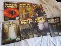 7 White Dwarf Games Workshop Books - The Lord Of The Rings Issues 264 265 274 275 276 277 290