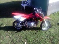 50cc off road dirt bike.