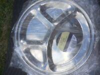 Stainless steel platter / diner plates (x48)
