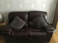 Leather electric recliner sofa and rocking chair suite