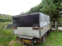 Ifor Williams dropside + canopy