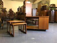Retro Mcintosh nest of tables coffee table - vintage mid century teak danish g plan ercol tv unit