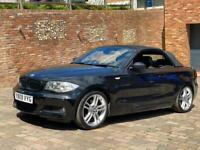 2009 black BMW 1 series convertible