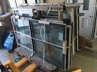 NEW 9 pairs of hardwood timber sash windows - double glazed dual color georgian bars
