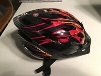 Brilliant Hardly Used Schwinn Boys Bicycle Helmet, Orange Flames, Excellent Condition 5-7 yeas old
