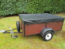 Car Trailer with cover, excellent condition