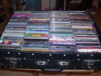 case of various cd's