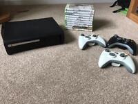Xbox 360 black + 10 games