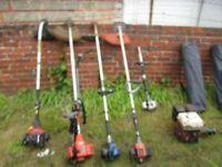 Job Lot lawnmowers, strimmers, blowers, shredder etc