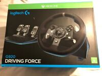 Logitech G920 Steering Wheel for Xbox One and PC, NEW,BOXED, SEALED RRP £329