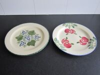 Poole Pottery Plates - Hand Painted Design - Lovey Decorative Items
