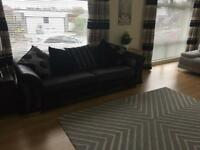 Black and grey sofa dfs smoke pet free