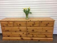 Lovely heavy pine 8 drawer chest