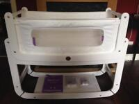 Snüz SnuzPod2 - Bedside Crib 3 in 1, Eco-White, Immaculate Condition, EUC