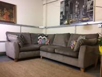 Next Alexis corner sofa in French Grey Velvet RRP £1400