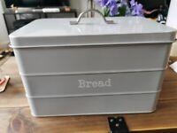 Dunelm grey bread bin, excellent condition