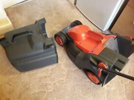 Flymow electic mower with grassbox