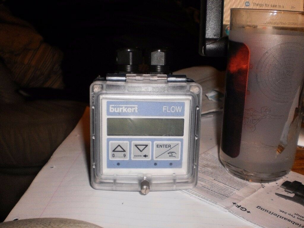 burkert digital flow meter
