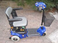 Electric Mobility Scooter, Shoprider Wispa, Easy For Transport, Very Good Condition
