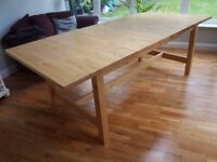 IKEA Solid Birch 8-12 Seater Extending Dining Table