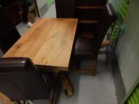 Really nice solid mango table and 4 chairs