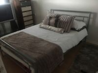 Silver bed frame