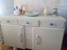 Antique Art Deco Sideboard Upcycled £120