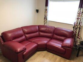 IMMACULATE GENUINE Leather Sofa DFS Dazzle